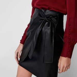 Express Faux Leather Skirt - with Wrap Front